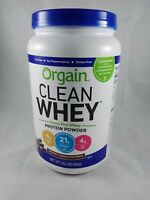 New Orgain Clean Whey Creamy Chocolate Fudge Grass Fed Whey 1.82Lbs/828g Protein