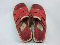Born women's shoes red size 7 M leather
