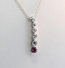 Tiffany & Co Jazz Graduated Drop Pink Sapphire & Diamond Pendant Est $3811 w Tax