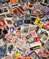 Old Stamp Estate 1000+ Worldwide Stamp Collection