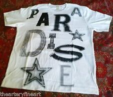 JACK PIERSON 'Paradise' Silkscreen T-Shirt White MEDIUM Word Sculpture **NEW**