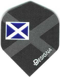 Flag of Scotland with Watermark Background Dart Flights: 3 per set