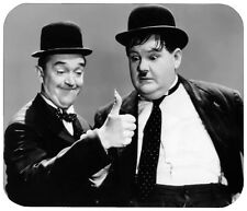 LAUREL AND HARDY MOUSE PAD - 1/4 IN. MOVIE TV MOUSEPAD RETRO VINTAGE HOLLYWOOD