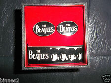 """THE BEATLES """"NEXT!"""" CUFF LINKS  OFFICIAL APPLE CORPS NICE PRESENTATION  BOX"""
