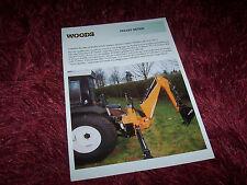 Prospectus / Brochure WOODS BH Pelles retro 1999 //