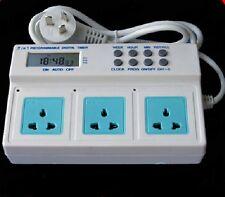 NEW 220v/10A 2200W  Timer for Aquarium Lights Wave Maker Programmable