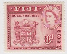 Stamp (F44) Fiji1954 8d Red Mint ow288