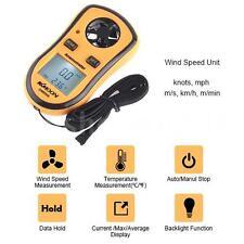 Digital Wind Air Speed Gauge Temperature Meter Measure Anemometer Thermometer SW