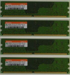 4 X Hynix DDR2 RAM 256MB PC2-3200 HYMP532U64P6-E3 240pin Non ECC Used