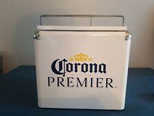 (L@@K) Corona Premier beer Metal 12 Can retro ice chest Cooler Steel new mib