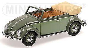 VW Volkswagen Beetle Cabriolet Beetle Convertible 1949 Green 1:18 Minichamps