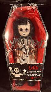 Living Dead Doll Lottie,  Mezco, LDD, 99924 Horror Gothic Coffin, NIB