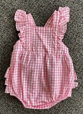 ruffle butts rose gingham romper size 12-18m nwt