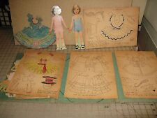 1937 The SEWING BOOK OF ROUNDABOUT DOLLS with 2 Cut-Out Dolls + Unused Patterns