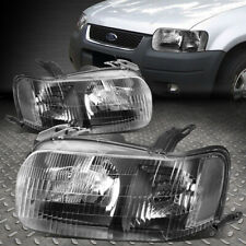 01-04 Ford Escape Black Housing Fresnel lens Replacement Headlight Left+Right