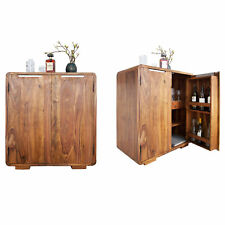 Exklusiver Barschrank CUBE 100cm hoch Sheesham Palisander Schrank Bar mit Türen