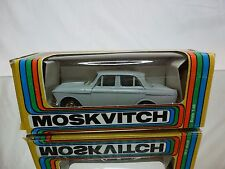 MADE IN CCCP USSR - MOSKVITCH 408 - GREY 1:43 - GOOD CONDITION IN BOX