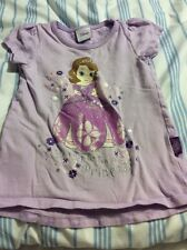 TU GIRLS SOFIA THE FIRST T-SHIRT - SIZE 3-4 YEARS - SHORT SLEEVED