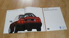 BROCHURE AUDI 80 1987 - 1.6 1.8 1.6 Diesel