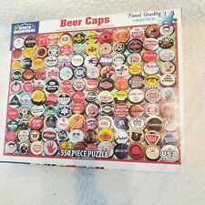 "White Mountain 550 pc Jigsaw Puzzle Beer Caps ""Retro"" 18""X24"""