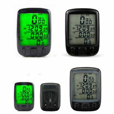 New Waterproof LCD Display Bicycle Computer Odometer Green Backlight Fashion FW