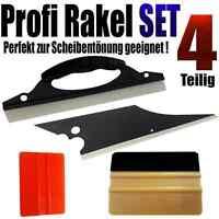 Profi Rakel Set 4-teilig1x Gold Rakel +3 Spezialrakel perfekt Scheiben Tönen