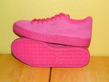 Youth Girls Puma Suede Iced Fluoro Shoes Size 6.5C Beetroot Purple (Pink)