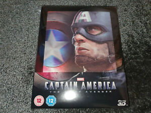CAPTAIN AMERICA 3D # Blu Ray # geprägtes Steelbook mit Magnet Lenticular # NEU