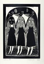 nabARus  010215-4-Linogravure- Linocut - Linograbado - Art brut - 17x25 cm