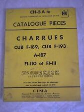 Vintage parts catalogue McCormick-Deering CB-5A ploughs french