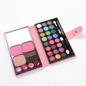 Girls Princess Makeup Set Sparkling Eyeshadows Blush Lip Gloss Kids Make Up Kit