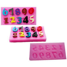 2× Mini Ausstecher Ausstechform Backen Nummer 0-9 Zahlen Silikon Backform Set