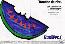 B- Publicité Advertising 1991 (2 pages) Radio Europe 1