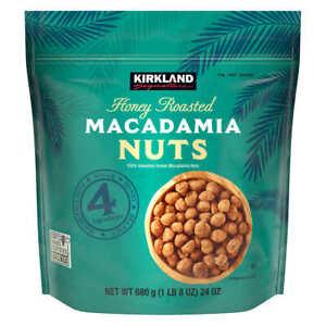 Kirkland Signature Honey Roasted Macadamia Nuts 24 Oz Bag New Free Shipping