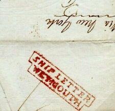 CANADA GB TRANSATLANTIC Cover Toronto*PAID 7&25* Weymouth Ship Letter 1837 EP452