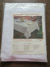Vintage Lace Tablecloth  54X72 inches White  NEW in Original Package Made in USA