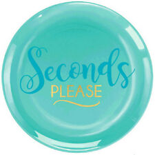 ADULT BIRTHDAY Seconds Please SMALL PLASTIC PLATES (20) ~ Party Supplies Cake