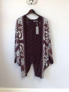 BNWT Gorgeous Ladies Mint Velvet Penny Print Kimono, UK Size 10, Tagged, Cost £