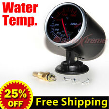 60mm 12V CAR Gauge WHITE Light TINTED Lens 270 Degree Scale Meter WATER TEMP.