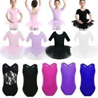 UK Toddler Girls Ballet Tutu Leotard Kids Dance Gymnastics Dress Ballerina Skirt