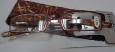 Fashion Reading Classes Foster Grant +1.25 NWT Includes Matching Case Brown