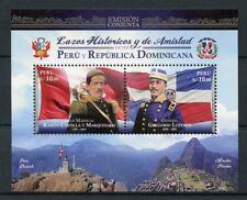 Peru 2017 MNH Diplomatic Relations JIS Dominican Rep 2v M/S Machu Picchu Stamps