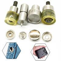 4-Part Press Stud Fixing Dies Tool Kit for Blue Hand press Machine DIY Clothing
