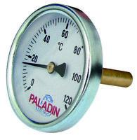 PALADIN RÄUCHERTHERMOMETER 0-120°C MESSING-THERMOMETER FÜR RÄUCHEROFEN, SMOKER