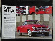1960 Borgward Isabella Coupe - 6 Page Article - Free Shipping