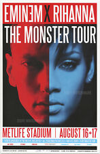 "Eminem X Rihanna Monster Tour New York Concert Poster 11"" x 17"" signed by artist"