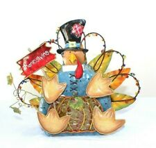 Home Interiors Tin Turkey Votive Candle Holder Thanksgiving Lantern Table Decor