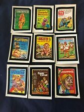 RARE Magazine 1982 Topps Wacky Packages Set Of 9 Stickers Playbug Snort Mud TV
