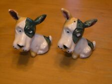 Rare Vintage Scottie Scottish Terrier Dogs  Salt Pepper Shakers Occupied Japan