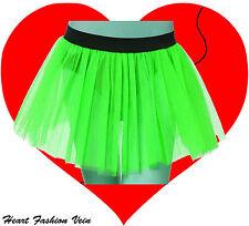 Plus Size Neon UV Green tutu skirt Rave Dance Fancy party Halloween Christmas